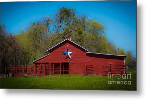 Texas Barn Metal Print