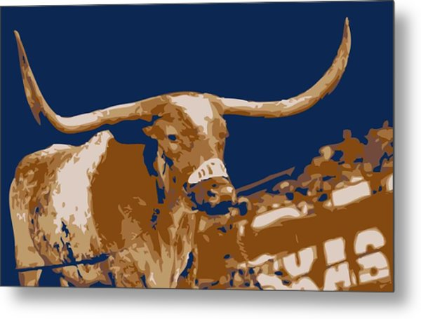 Texas Bevo Color 6 Metal Print