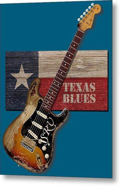 Texas Blues Shirt Metal Print