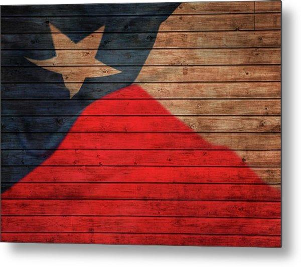 Texas Flag Barn Door Metal Print