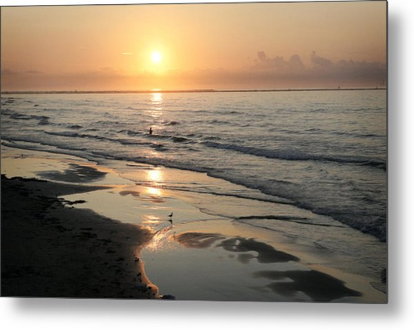 Texas Gulf Coast At Sunrise Metal Print