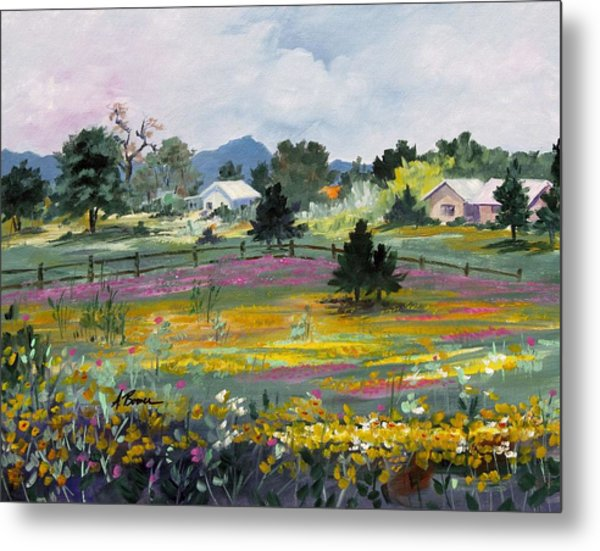Texas Hillcountry Flowers Metal Print