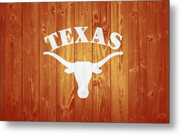 Texas Longhorns Barn Door Metal Print