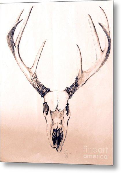 Texas Mount Deer Metal Print