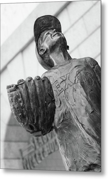 Texas Rangers Little Boy Statue Metal Print