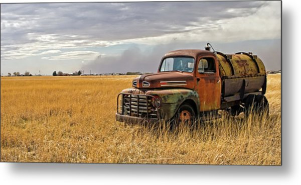 Texas Truck Ws Metal Print by Peter Tellone