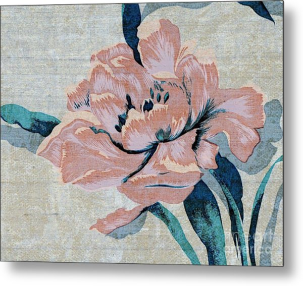 Textured Floral No.2 Metal Print
