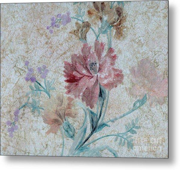 Textured Florals No.1 Metal Print