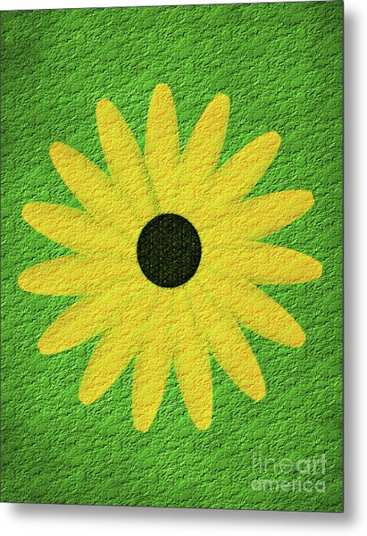 Textured Yellow Daisy Metal Print