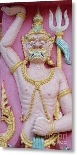 Thai Temple Art I Metal Print