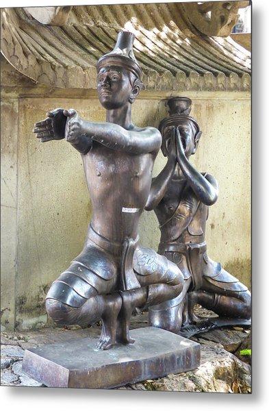 Thai Yoga Statues At Famous Wat Pho Temple Metal Print