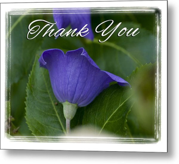 Thank You Balloon Metal Print
