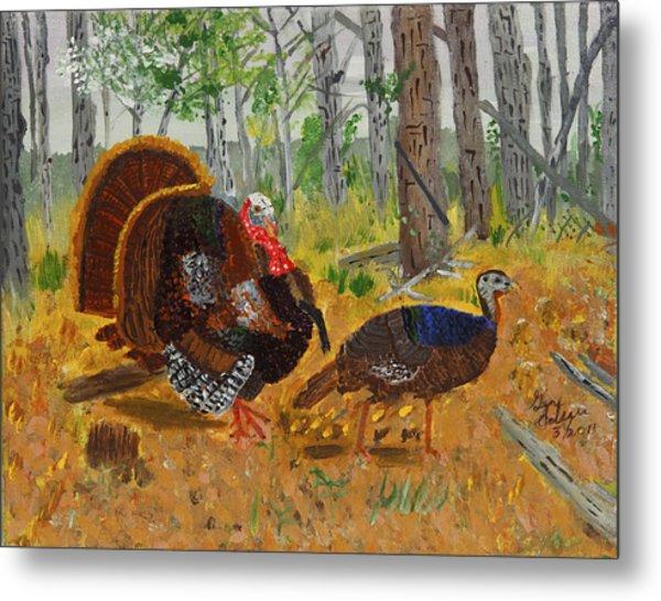 Thanksgiving Turkey Metal Print