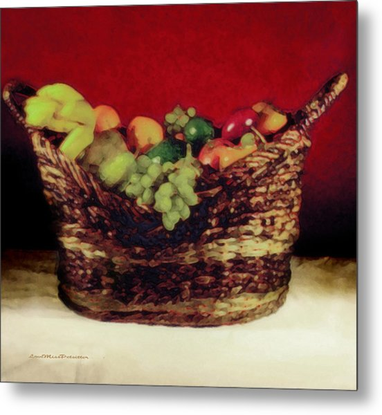 That Basket Of Fruits Painting Metal Print