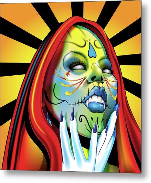 That Girl Metal Print