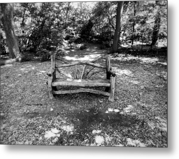 That Weird Bench One Metal Print