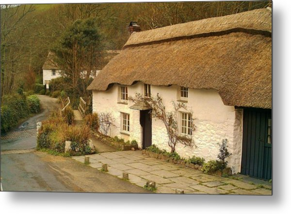 Thatched Cottage By Ford  Metal Print