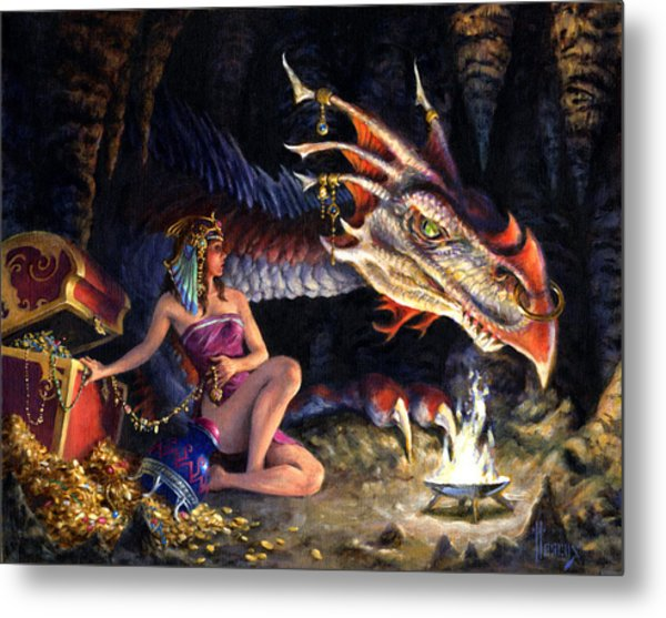 That's Mine Metal Print by Richard Hescox