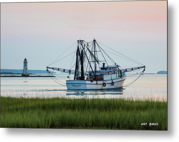 That's Where The Shrimp Are My Boy Metal Print