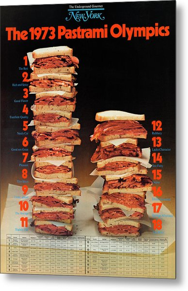 Metal Print featuring the photograph The 1973 Pastrami Olympics by New York Magazine