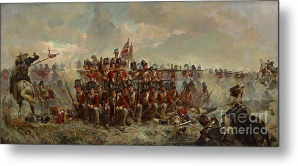 The 28th Regiment At Quatre Bras Metal Print