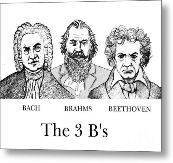 The 3 B's Metal Print by Paul Helm
