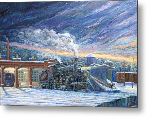 The 501 In Winter Metal Print by Gary Symington