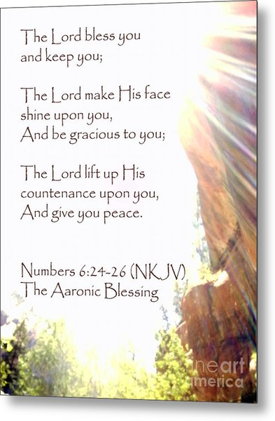 The Aaronic Blessing And True Light Lower Emerald Pools Zion Metal Print