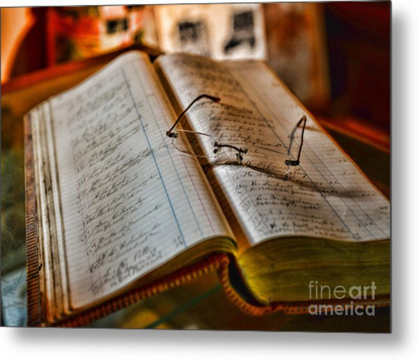 The Accountant's Ledger Metal Print