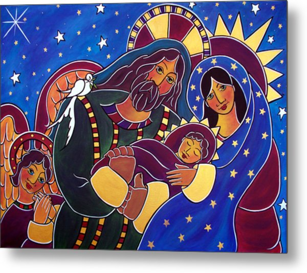 Metal Print featuring the painting The Adoration Of The Child by Jan Oliver-Schultz