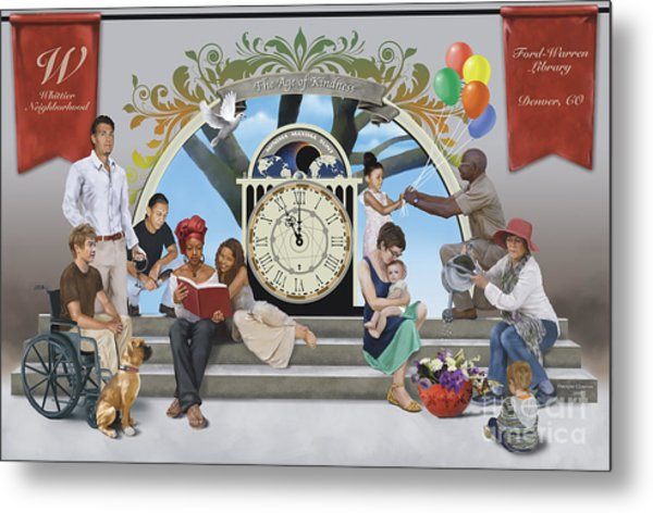 Metal Print featuring the digital art The Age Of Kindness by Dwayne Glapion