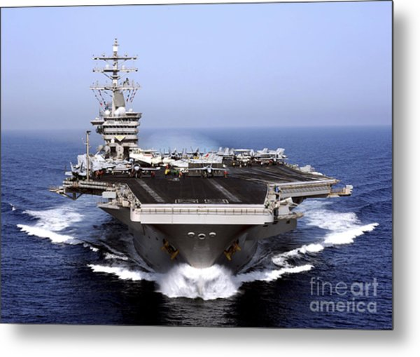 The Aircraft Carrier Uss Dwight D Metal Print