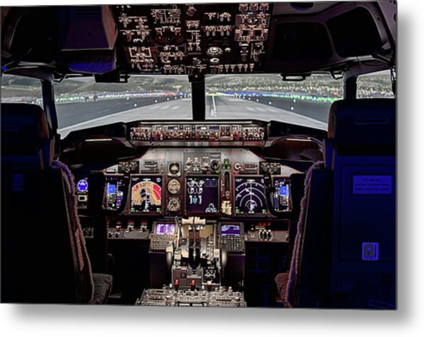 The Airline Pilot Office Metal Print by JC Findley