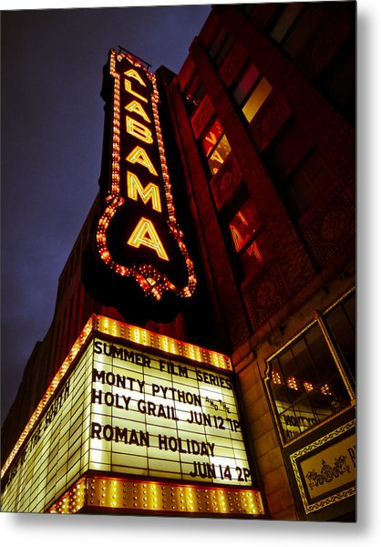 The Alabama In Lights Metal Print