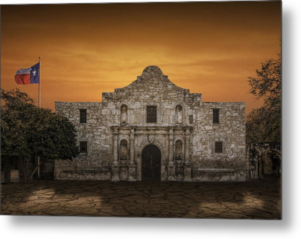 The Alamo Mission In San Antonio Metal Print