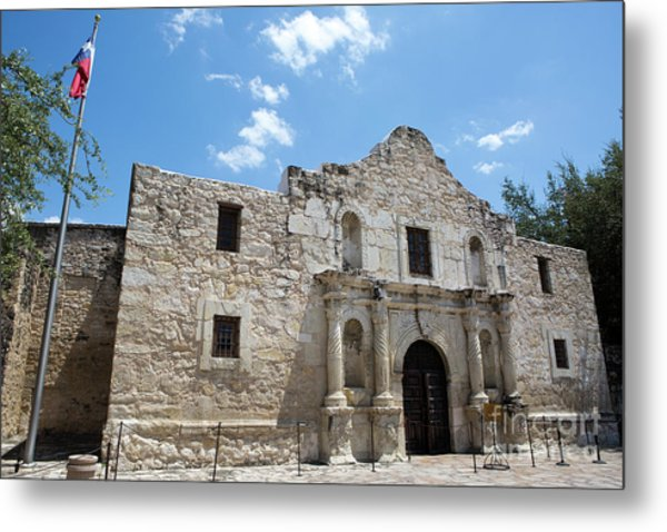 Metal Print featuring the photograph The Alamo Texas by Steven Frame