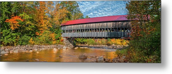 Metal Print featuring the photograph The Albany Bridge - Kancamagus Highway by Expressive Landscapes Fine Art Photography by Thom
