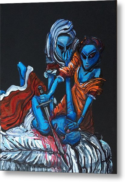 The Alien Judith Beheading The Alien Holofernes Metal Print