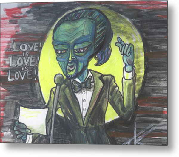 The Alien Lin-manuel Miranda Metal Print
