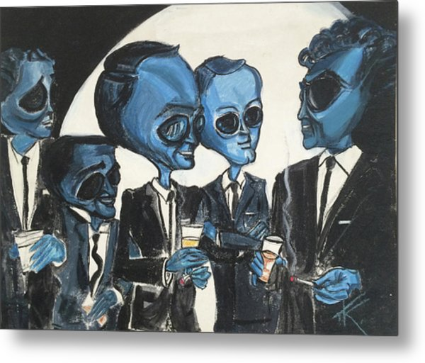 The Alien Rat Pack Metal Print