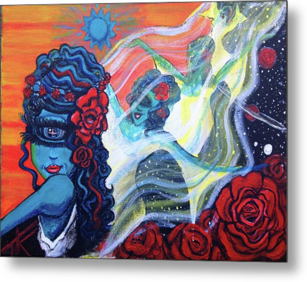 The Alien Scarlet Begonias Metal Print