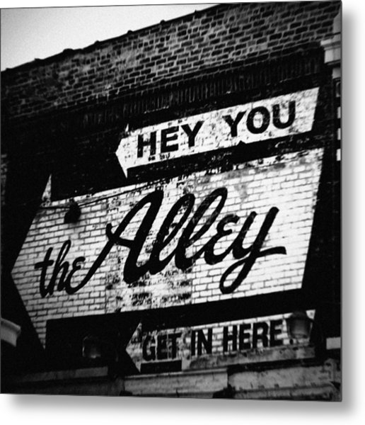 The Alley Chicago Metal Print