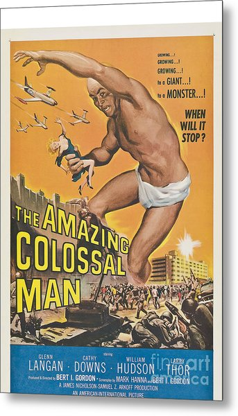 The Amazing Colossal Man Movie Poster Metal Print