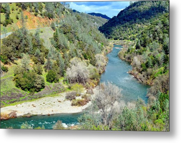 The American River Metal Print