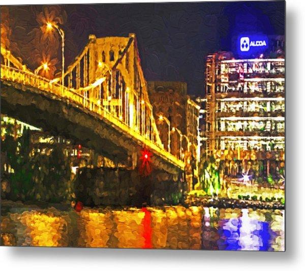 Metal Print featuring the digital art The Andy Warhol Bridge 1 by Digital Photographic Arts