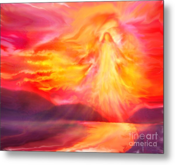 The Angel Of Protection Metal Print