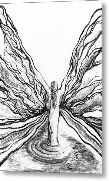 The Angel Within  Metal Print by Mikel Zuiderveen