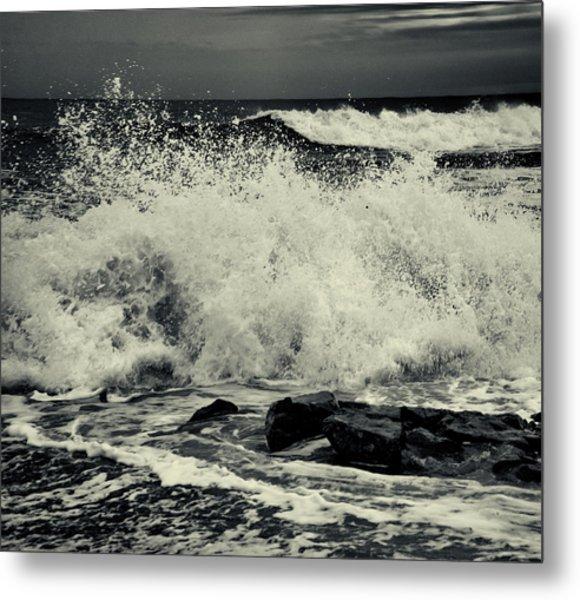 The Angry Sea Metal Print