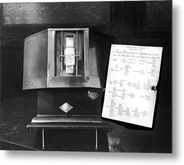 The Anthropomorphometer Metal Print