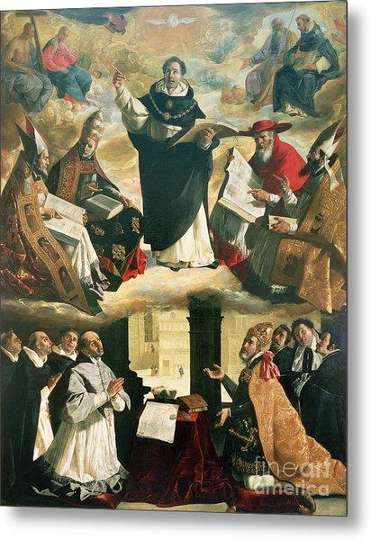 The Apotheosis Of Saint Thomas Aquinas Metal Print